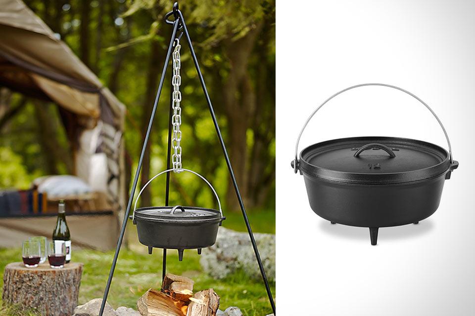 Универсальный котелок Lodge Camping Oven из чугуна