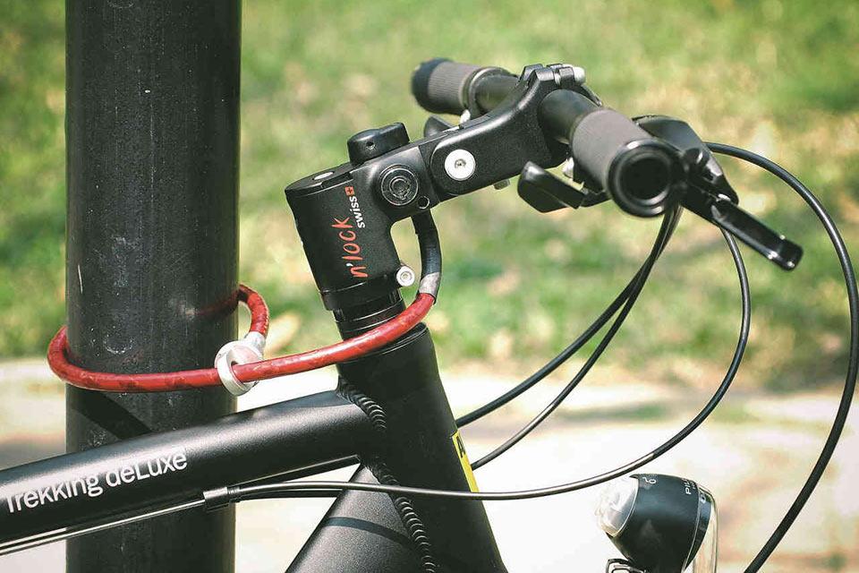 Велозамок N'Lock, который выводит из строя руль