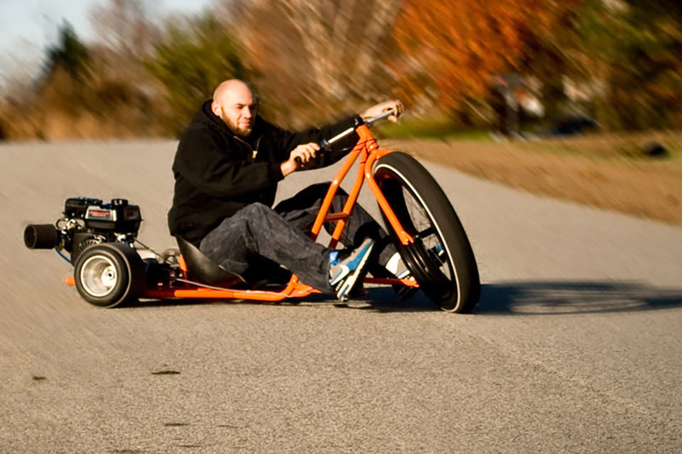 Трицикл для дрифтинга Big Wheel Drift Trike из легированной стали