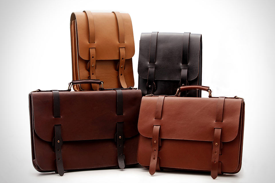 Кожаные сумки Cravar Alpha с кобурной застежкой