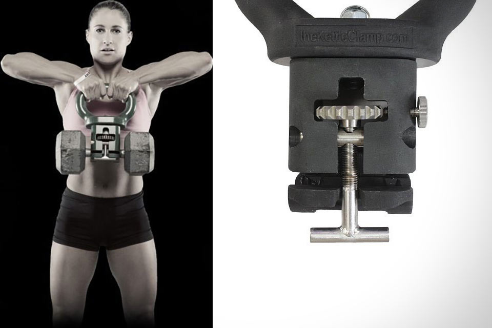 Тренажер KettleClamp, превращающий гантель в гирю