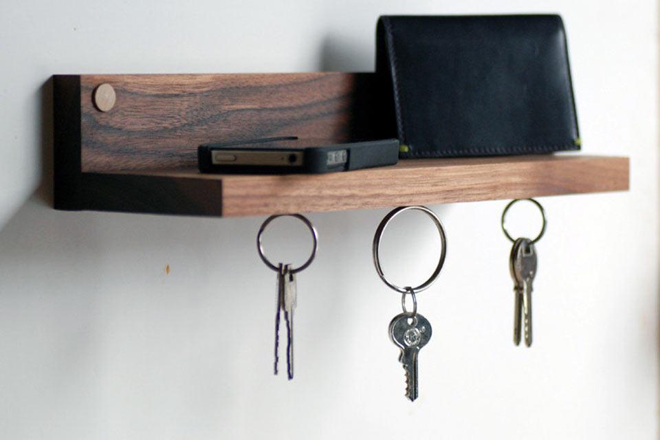 Магнитная полка Magnetic key ring holder & shelf для ключей и мелочи