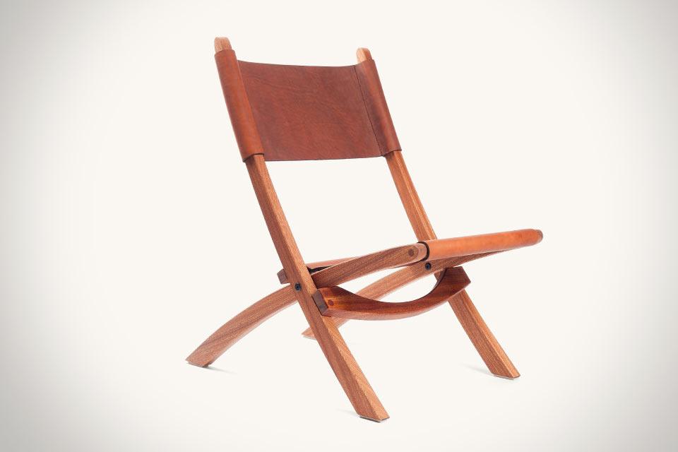 Складной кожаный стул Tanner Goods Nokori