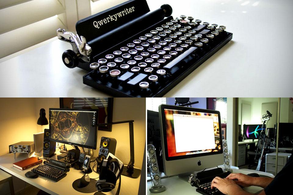 Винтажная клавиатура Qwerkywriter в стиле печатной машинки