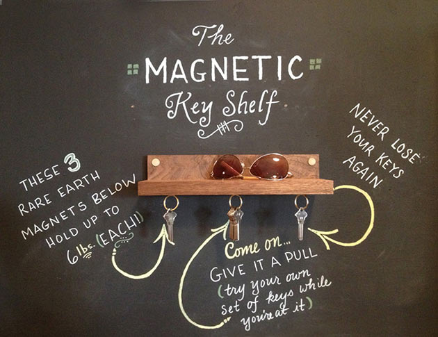 04-Magnetic-key-ring-holder-shelf
