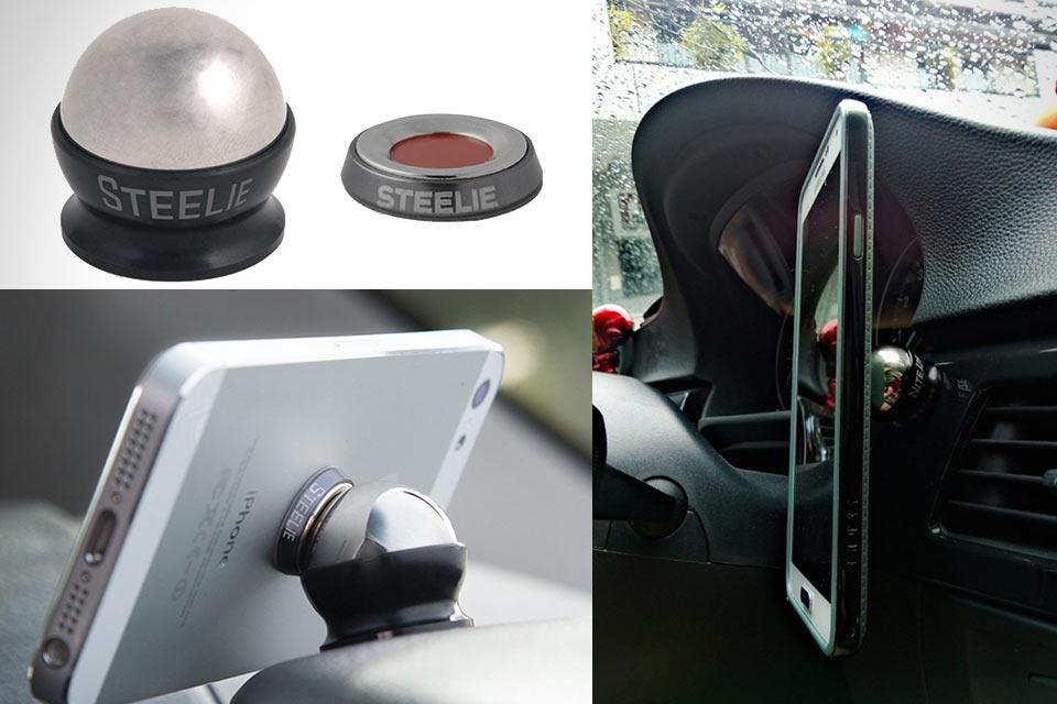 Минималистичный автомобильный держатель Nite Ize Steelie для смартфонов