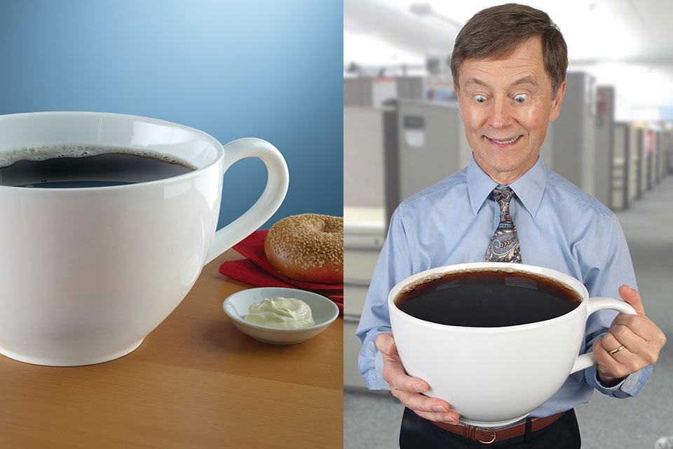 Кофейная чашка Colossal Coffee Cup, самая большая в мире