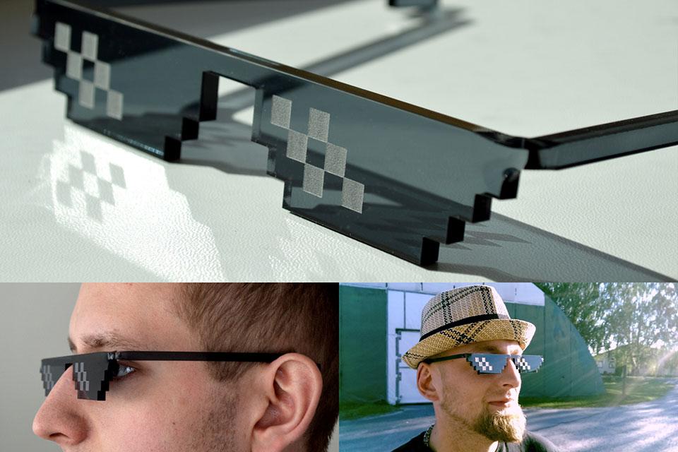 Пикселизированные очки Deal With It
