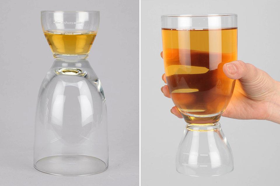 Стакан для пива и шотов Happy Hour Glass