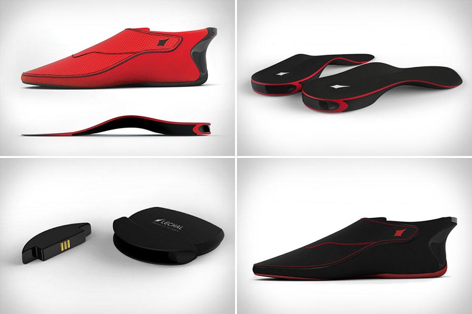 Интерактивная обувь Lechal Interactive Haptic Footwear с вибрирующим Bluetooth-модулем
