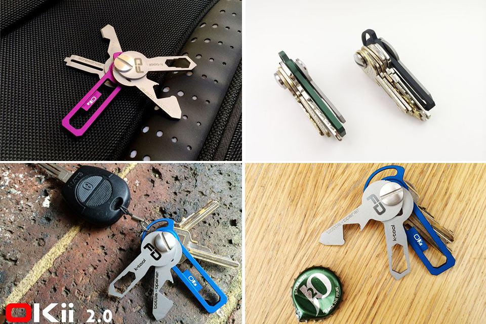 Металлический ключник-мультитул Okii 2.0