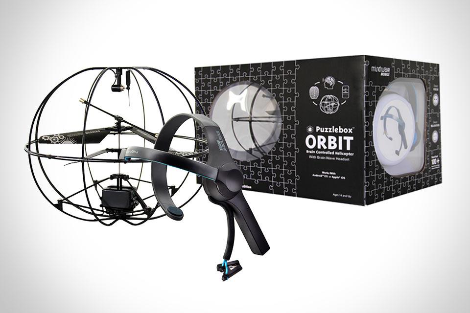 Управляемый мыслями игрушечный вертолет Puzzlebox Orbit