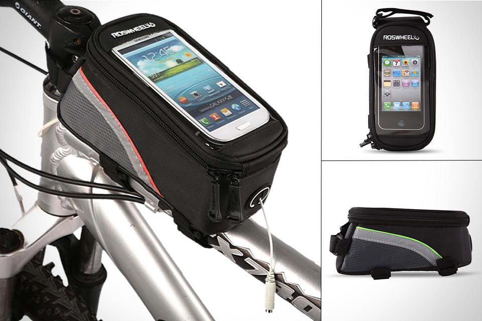 Велосипедная сумка Roswheel Toptube Bag с окошком для смартфона