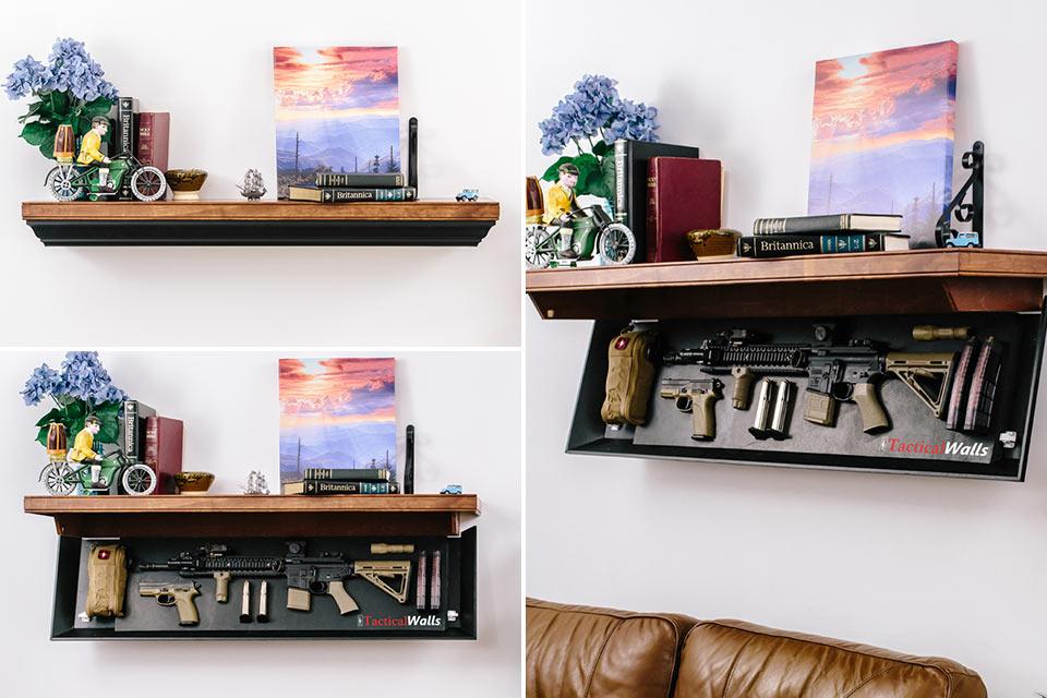 Полки Tacticalwalls Shelves с секретным отсеком для хранения оружия