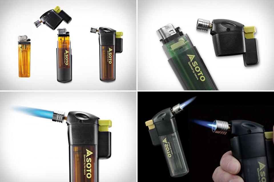 Карманная горелка Soto Pocket Torch из обычной зажигалки