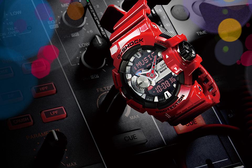 Защищенные музыкальные Bluetooth-часы Casio G-Shock GBA-400