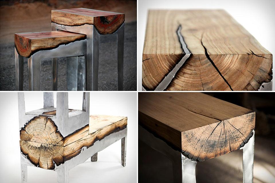 Коллекция мебели Hilla Shamia Aluminum and Wood из сплава алюминия и дерева