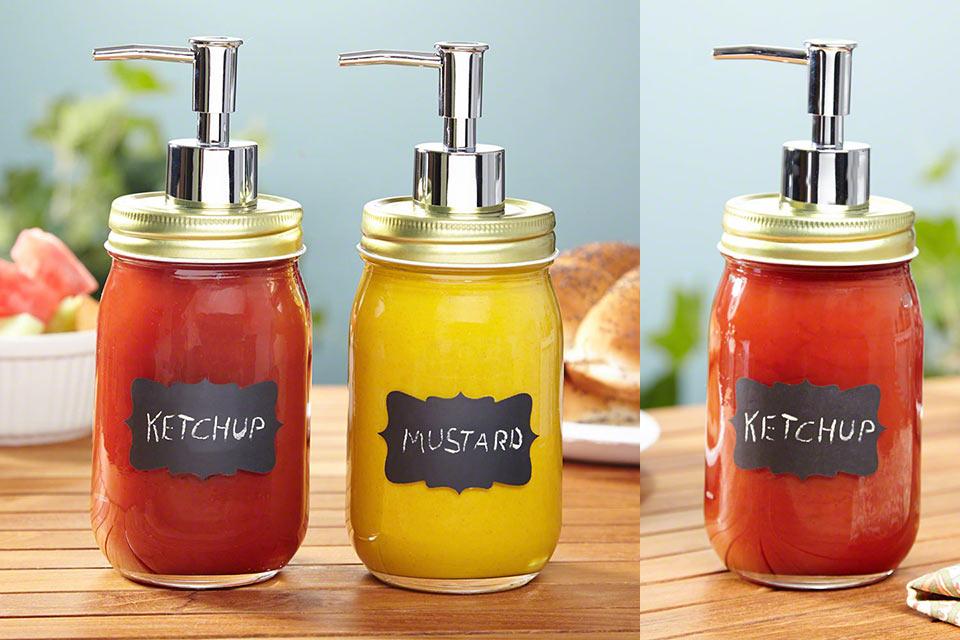 Удобный дозатор Chalk It Up для кетчупа и горчицы