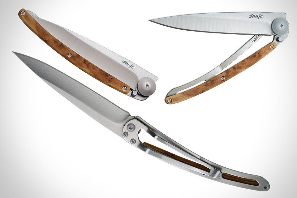 Минималистичный складной нож Deejo Wood 37G весом в 37 г