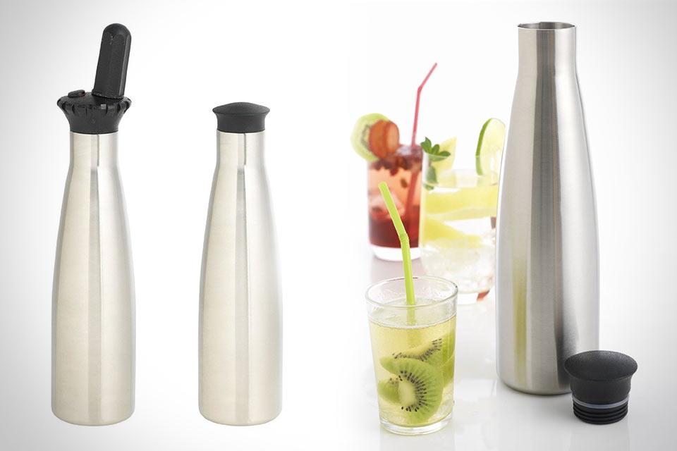 Приспособление Purefizz Soda Maker для быстрого газирования любых жидкостей