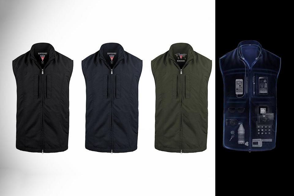 Жилетка для путешественника RFID Travel Vest с 26 карманами и RFID-защитой