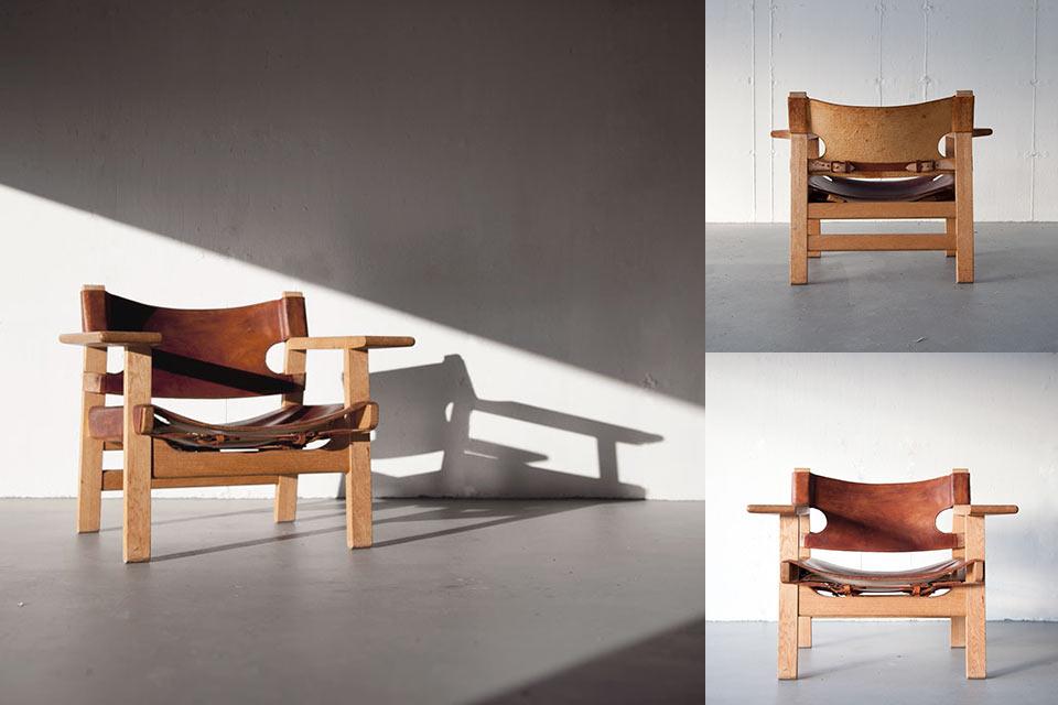 Кресло Spanish Chair из дуба и натуральной кожи
