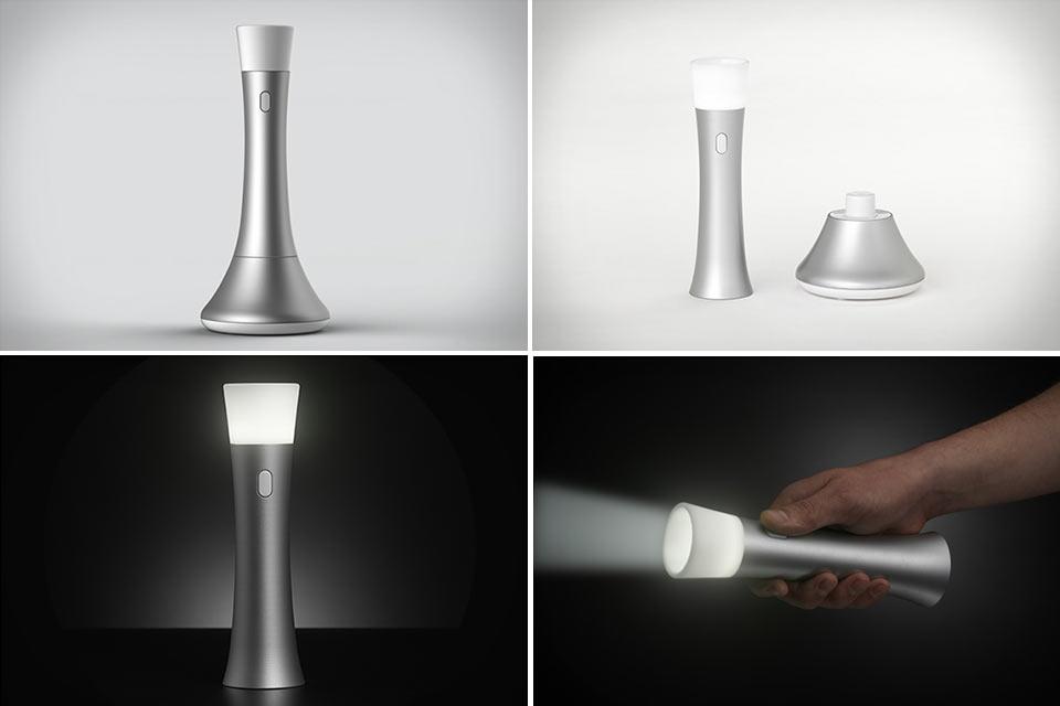 Красивый бытовой фонарь 3-в-1 Trioh