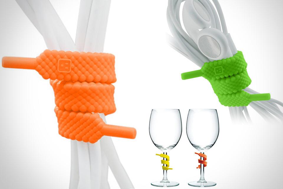 Многоразовые стяжки Unlace в форме шнурков