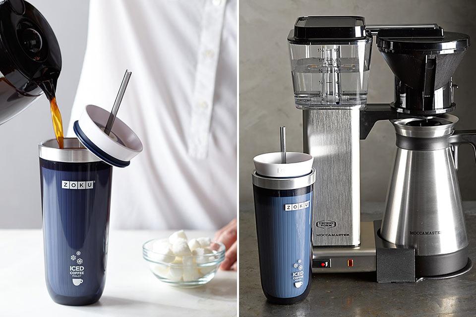Чашка Zoku Iced Coffee Maker для любителей холодного кофе и чая в дороге