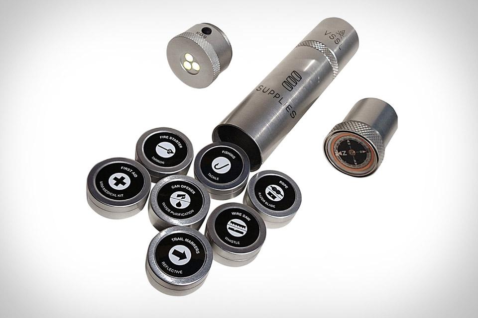 Набор для выживания VSSL в форме алюминиевых таблеток