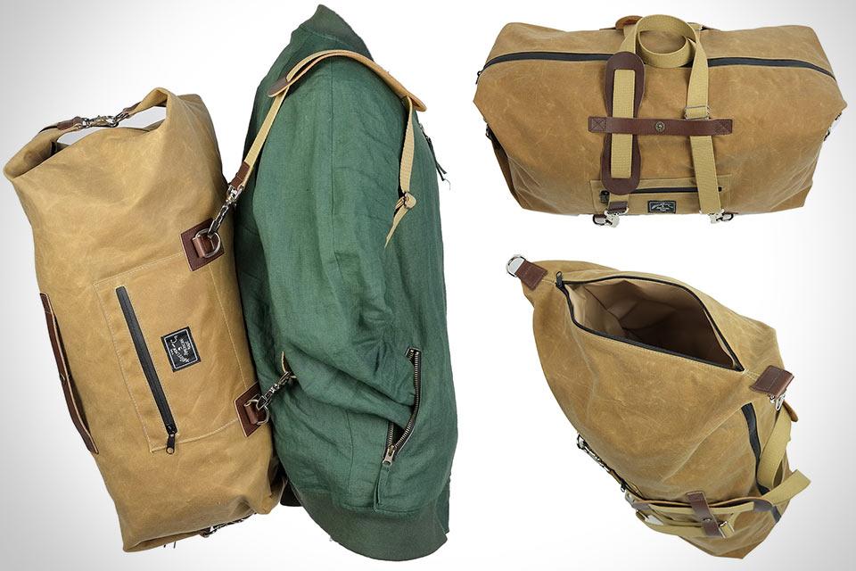 Необычная дорожная сумка Overman Duffle X в формате вещмешка с рюкзачными лямками