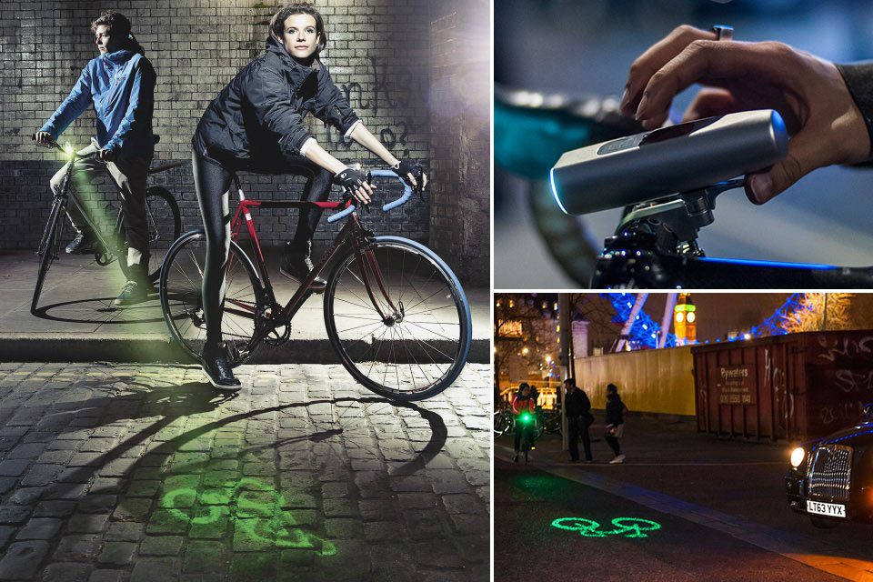 Велофонарь BLAZE со встроенным лазером