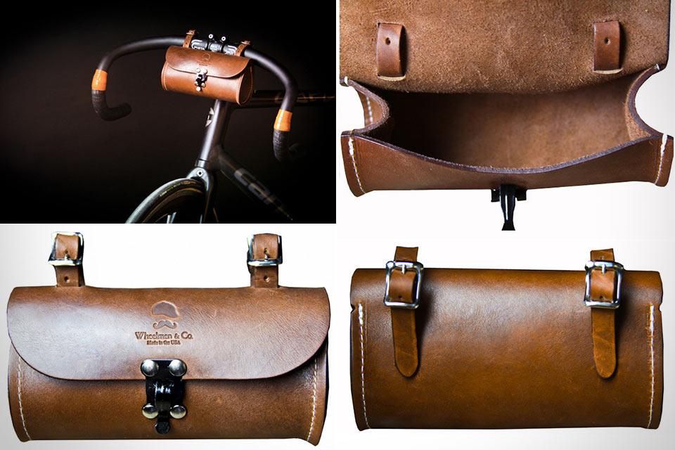 Классическая велосумка Wheelman & Co Blacksmith Tool Case из натуральной кожи