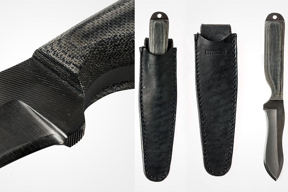 Нож Civilware Striker II из напильника и текстолита