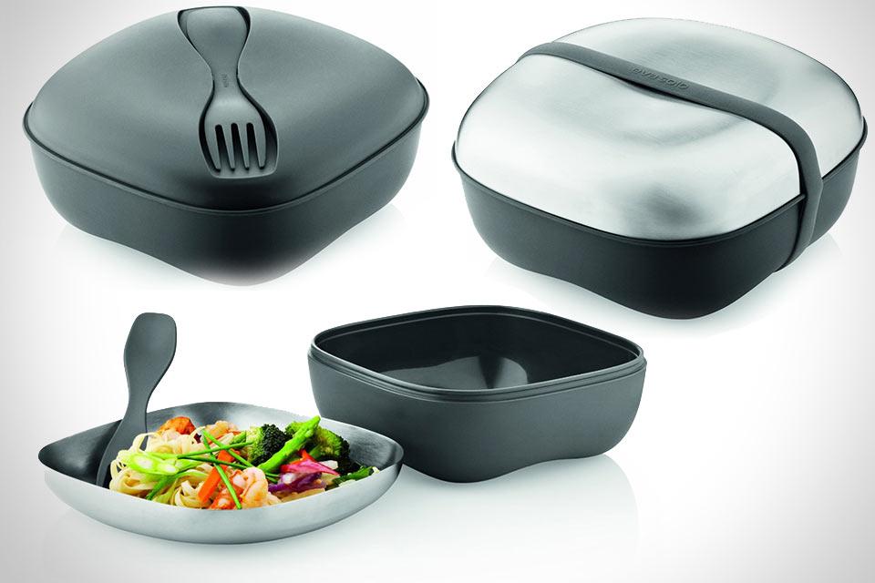 Качественный контейнер для еды Eva Solo Lunchbox со стальной тарелкой