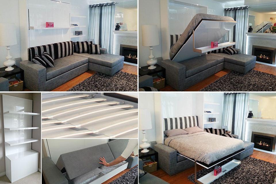 Трансформирующаяся настенная софа-кровать MurphySofa