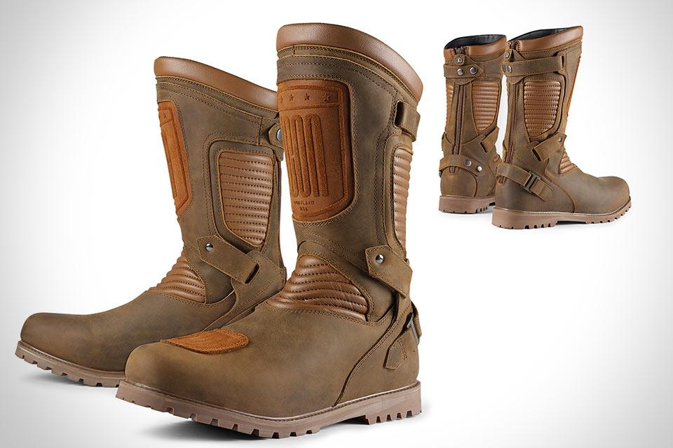 Технологичные мото ботинки ICON 1000 Prep Boot с классическим дизайном