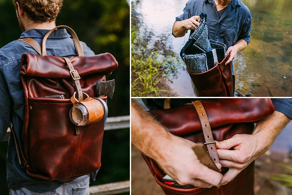 Вечный рюкзак Loyal Stricklin Ruck Sack из очень толстой кожи