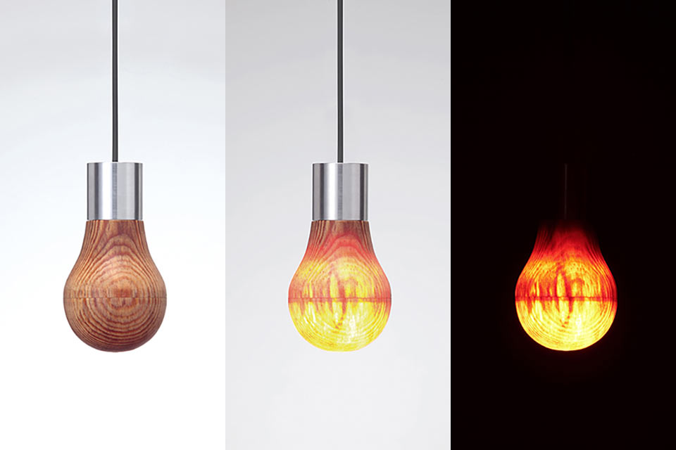Деревянная лампочка Wooden Light Bulb
