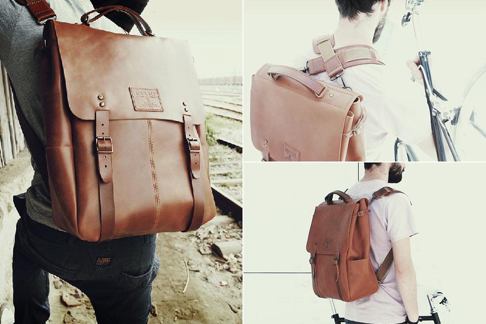 Кожаный ранец Candeeiros с несколькими вариантами ношения