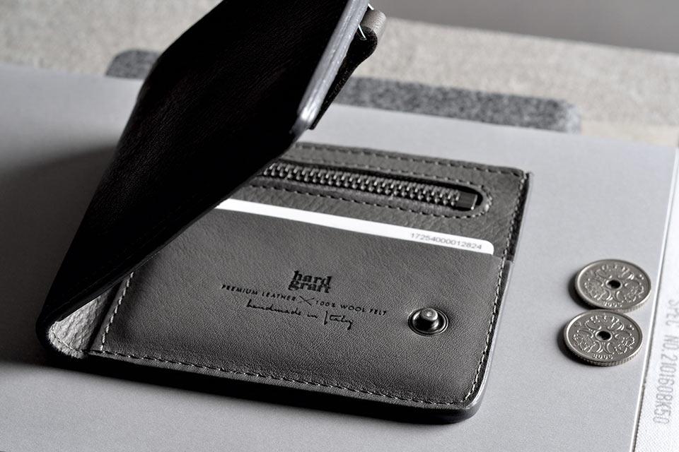 Кошелек Hard Graft Zip Wallet с отделением на молнии
