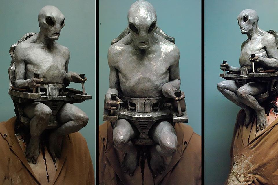 Суровая маска Alien Mind Control для Хэллоуина