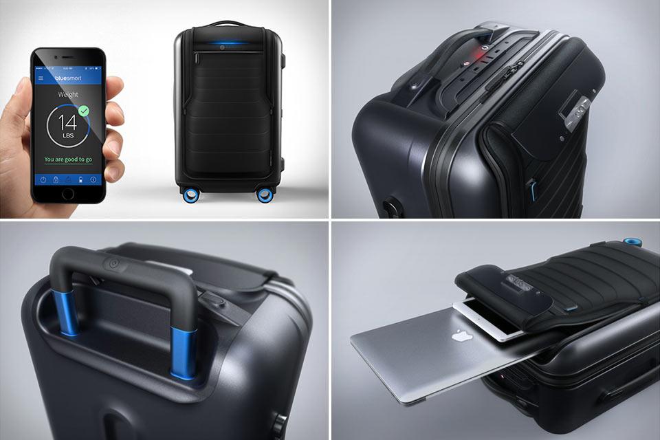 Сверхчемодан Bluesmart с блэкджеком и Bluetooth