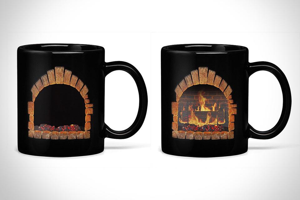 Кружка-камин Fireplace Mug, реагирующая на тепло