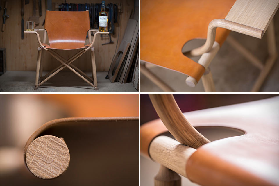 Кресло Glenlivet Nadurra Dram Chair, созданное в честь виски