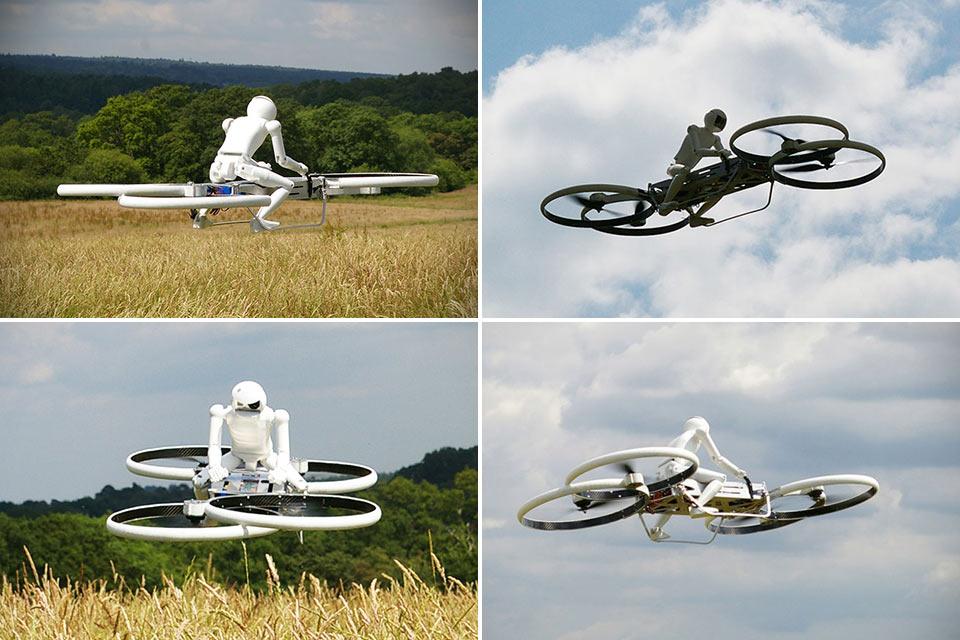 Предвестник настоящего ховербайка Hoverbike Drone