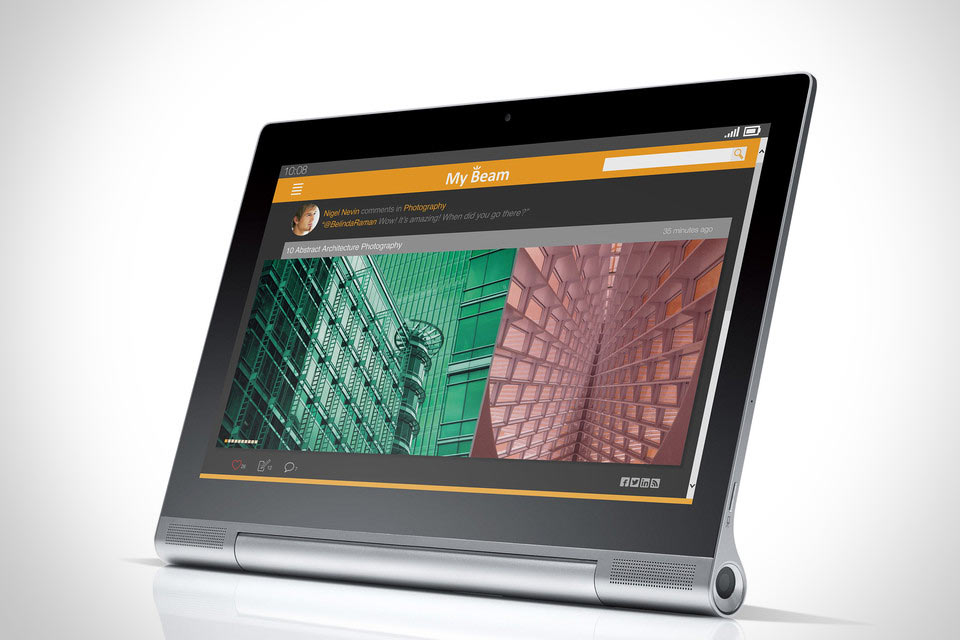 Планшет Lenovo YOGA Tablet 2 Pro со встроенными проектором и сабвуфером