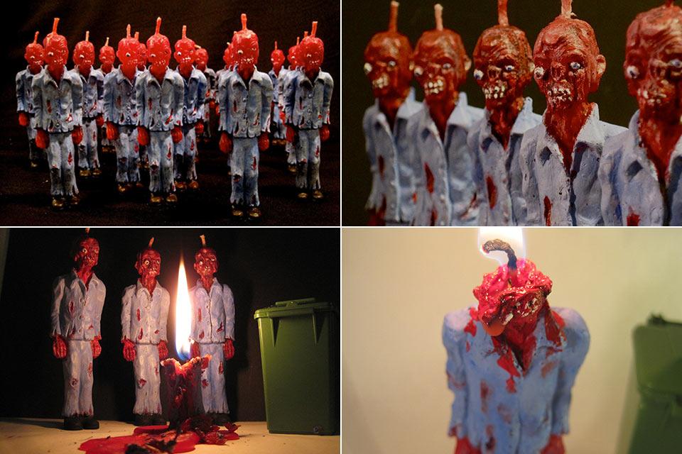 Жуткая зомби-свеча Melting Mandle Zombie
