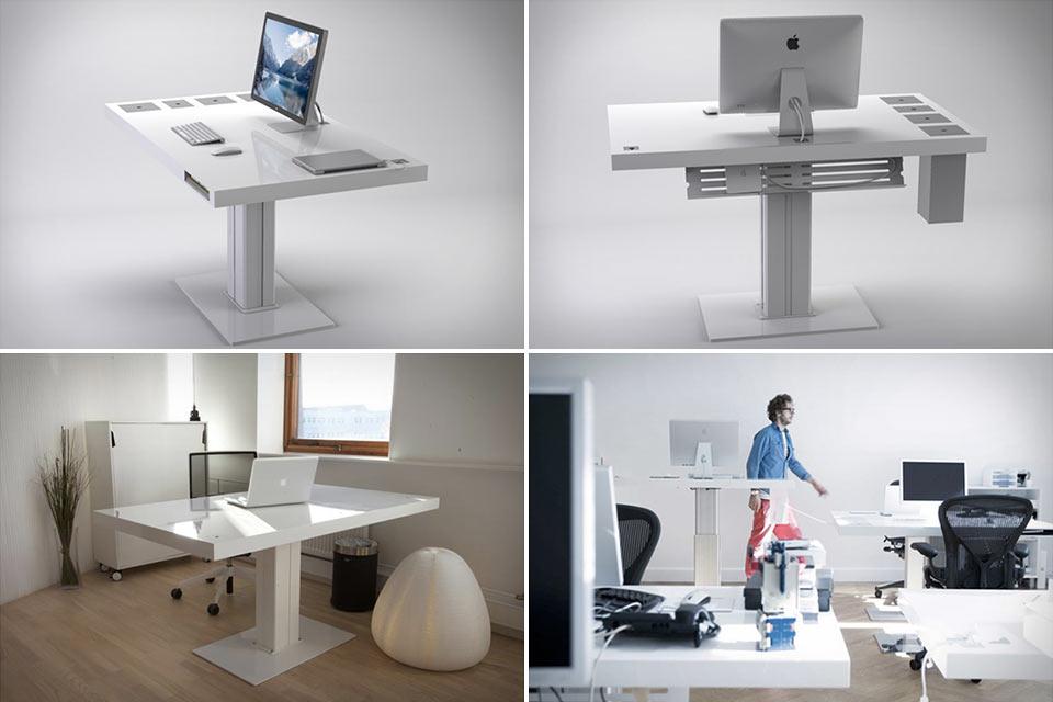 Минималистичный электронный стол Milk Desk