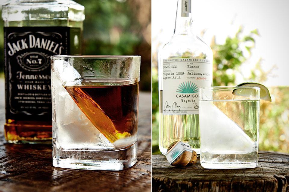 Необычный стакан-охладитель Whiskey Wedge для вкусного алкоголя